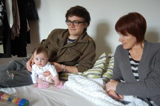 Gracie, Mum, Me.