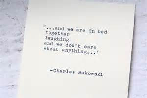 and we are in bed together laughing. Buk.
