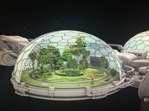Biodome in space